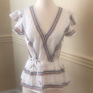 Jcrew striped blouse